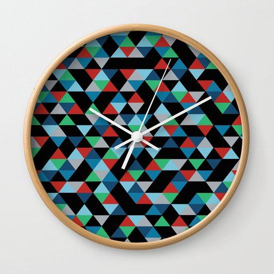 Triangles 4B Wall Clock