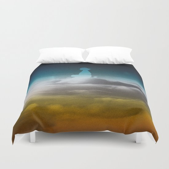 Ghost Cloud Rider Duvet Cover