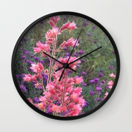 Spring Pinks Wall Clock