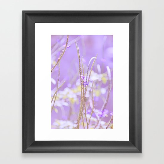 Gladness breathes from the blossoming ground. Framed Art Print