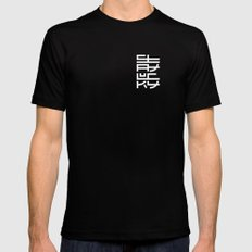 Stay Lucky MEDIUM Black Mens Fitted Tee