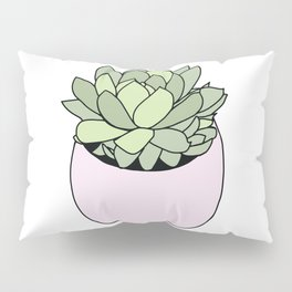 Suculent in flowerpot Pillow Sham