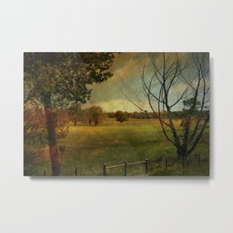 Field of Yellow Metal Print