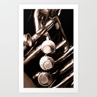 jazz Art Prints featuring Jazz by KunstFabrik_StaticMovement Manu Jobst