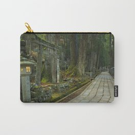Path through Koyasan Okunoin cemetery, Wakayama Prefecture, Japan Carry-All Pouch