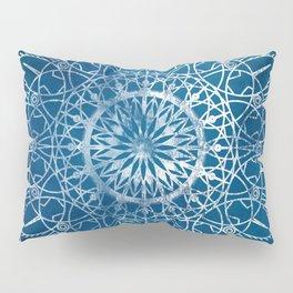 Fire Blossom - Blue Pillow Sham