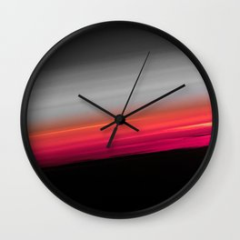 Pink Melon Gray Ombre Wall Clock