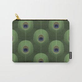 PEACOCK FEATHERS PATTERN Carry-All Pouch