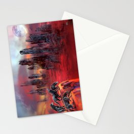 Wolves of Future Past landscape Stationery Cards