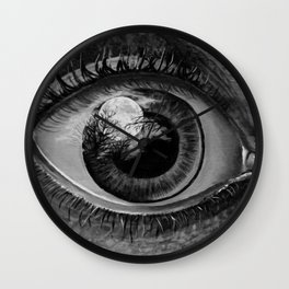 Moon Eyed Wall Clock