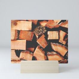 Wood Logging Mini Art Print