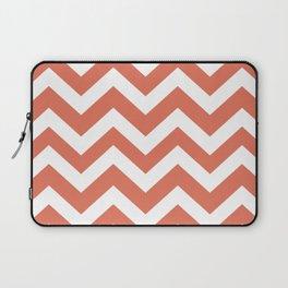 Terra cotta - pink color - Zigzag Chevron Pattern Laptop Sleeve