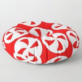 Peppermint Candies Floor Pillow