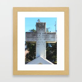 French Tombstone: Abadie Framed Art Print