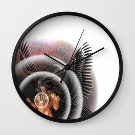 heavenly body - archangel micheal Wall Clock