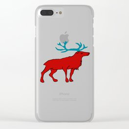 The lovely reindeer Clear iPhone Case