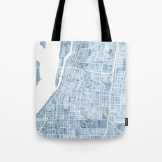 Memphis Tennessee blueprint watercolor map Tote Bag