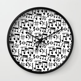 Music Pattern | Note Instrument Musical Listening Wall Clock