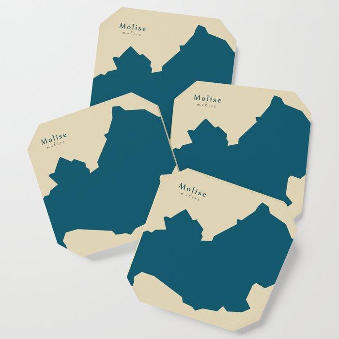Modern Map Of Italy.Modern Map Molise Region Italy Coaster By Ingomenhard