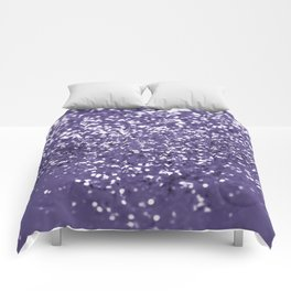 Sparkling ULTRA VIOLET Lady Glitter #1 #shiny #decor #art #society6 Comforters