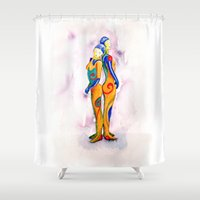 sisters Shower Curtains featuring Sisters by elee