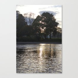 Sunset over River Ness Inverness Canvas Print