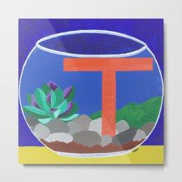 T is for Terrarium  Metal Print