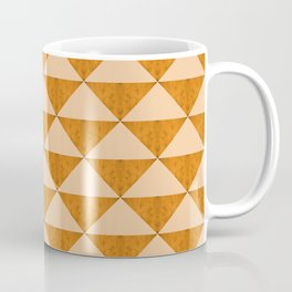 Concrete dark cheddar orange triangles geometry Coffee Mug