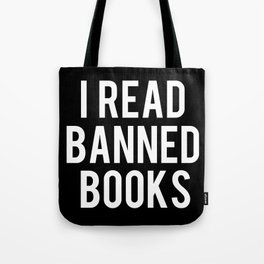 I Read Banned Books - Inverted Tote Bag