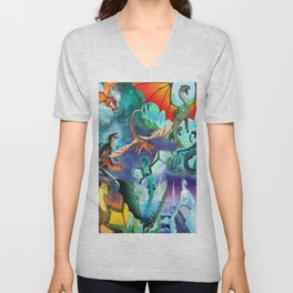 Wings-Of-Fire all dragon Unisex V-Neck