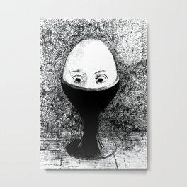 The Egg, 1855 Artwork by Odilon Redon Artwork for Wall Art, Prints, Poster, Tshirts, Men, Women, Kids Metal Print