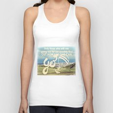 Adventure Quote, hot air balloon Unisex Tank Top