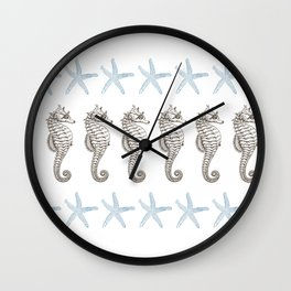 Starfish & Seahorses Wall Clock