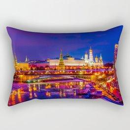 Panoramic View Of Moscow Kremlin Rectangular Pillow