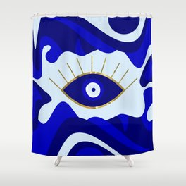 Lava All Seeing Evil Eye Shower Curtain