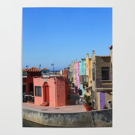 Colorful Capitola Houses Poster