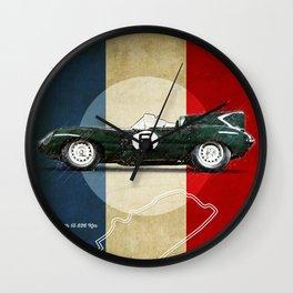Le Mans Vintage D-Type Wall Clock