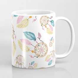 Hand painted watercolor pastel boho dreamcatcher pattern Coffee Mug