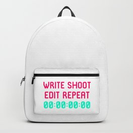 Write Shoot Edit Video Editing Funny Quote Backpack