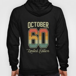 Vintage 60th Birthday October 1960 Sports Gift Hoody