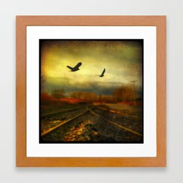 Flight Of The Blackbirds Framed Art Print