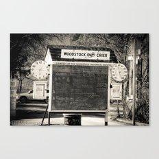 chalk board crier Canvas Print