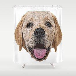 Golden Labrador Retriever gun dog hunter flushing spaniels Shower Curtain