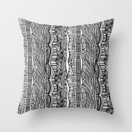 Hand Drawn Line Pattern Throw Pillow