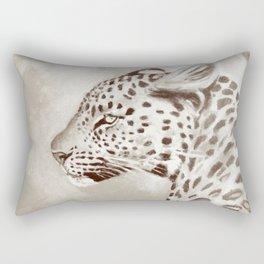 Leopard Black & White Rectangular Pillow