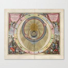 Keller's Harmonia Macrocosmica - Planisphere of Brahe 1661 Canvas Print