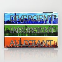 divergent iPad Cases featuring Divergent by All Things M