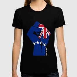 Team Cook Islands Flag Tee T-shirt