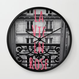 Parisienne Balcony View Wall Clock