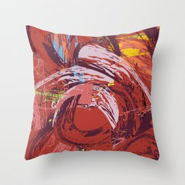 Red Bang Throw Pillow